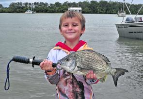 Charley Stuart-Taylor's cheeky smile and quality bream (which he released) won him this week's $50.00 Davo's Fish of the Week prize .