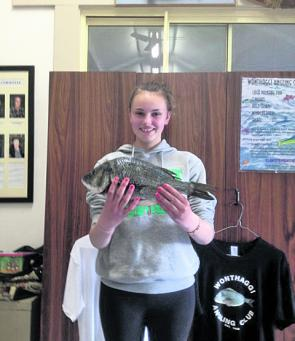 Tahlia Sharples with a very nice bream caught near Wonthaggi.