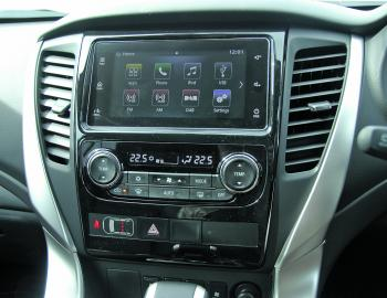 "Information displays on the Sport are within a clear 7"" touch screen."