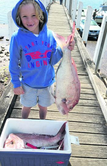 This big 7kg snapper was caught by young Wonthaggi angler Tom Humphris.