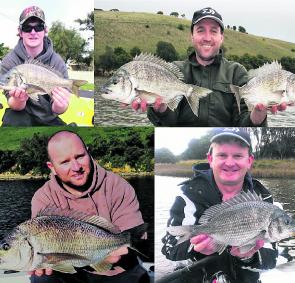 Just a few of the many quality bream being taken from Hopkins River recently.