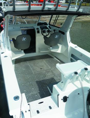 It's easy to walk on at the stern with the walk-through transom door.