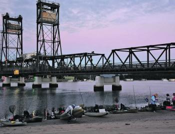 It was an early morning start for the 40 anglers participating in the one-day event.