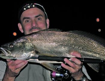 Casting around the lighted areas at night can produce mulloway, tailor and threadfin salmon.
