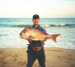 Big snapper are always a chance from anywhere right along the Ninety Mile Beach.