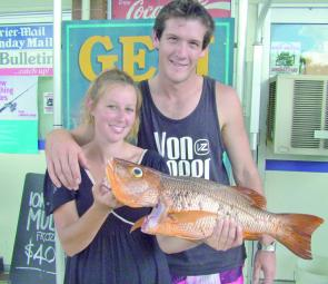 A great catch, Annamieka and Josh show off their thumping jack