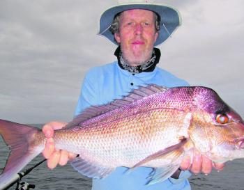 Brett Malcolm with a whopper snapper.
