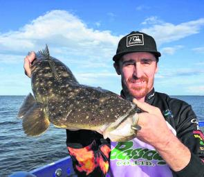 Blake O'Grady with a cracking Redcliffe flathead.