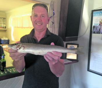 Wonthaggi angler Trevor Bowler with a competition winning 740g whiting caught on a Bass yabby.