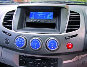 A wide range of data is on hand within the Triton's multi function display centre.