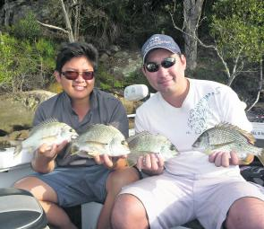 Bream have been taking soft plastics and blades around the rock walls and cockle beds.