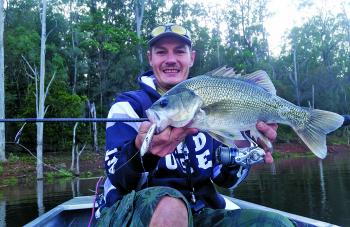 Aaron Kemp nailed some nice bass fishing the flooded edges at Borumba Dam last month. This quality model fell for a Cultiva Zip'n Ziggy fished across the surface early in the morning.