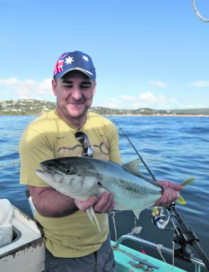 This lovely kingfish ate a 200g jig ripped through the school off Palm Beach.