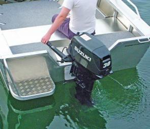 The tiller steer is an ideal way to set up this boat as it allows lots of room. The rear seat places the skipper in a perfect driving position too.