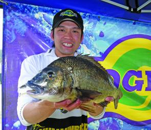 Team Nitro's Thuan Huynh with the 1.6kg Ecogear Big Bream