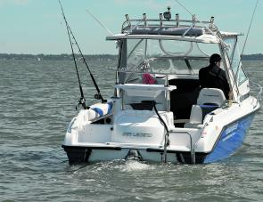 This stern view of the SL22 gives an insight into the amount of fishing room available.