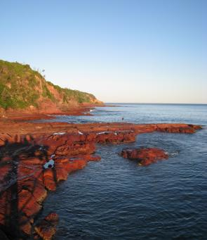 Rock fishing near Merimbula Point can be very worthwhile when conditions are safe.