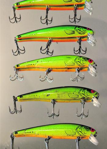 Having the same lure with different variations of hooks and ring sizes is always a good idea.