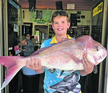 A wicked 6.5kg snapper Wil Woods caught at Black Rock.