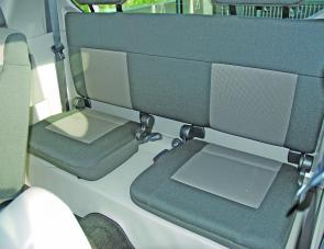 Rear seats can be flipped up to extended storage or left in place for a youngster to enjoy.