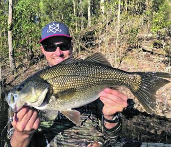 Beat the Christmas crowds and head to Hinze Dam for some quality bass like this specimen.