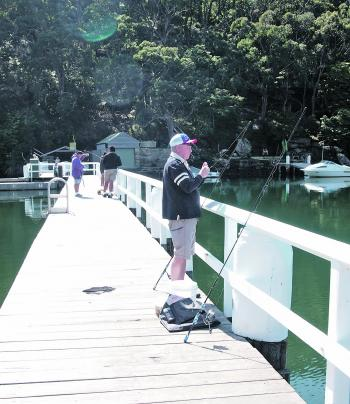 Dennis Morton likes to fish for bream and squid off the baths in Gymea Bay.