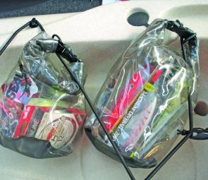 Dry bags are a great way of keeping tackle in easy to reach, easy to see places.