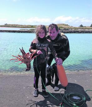 Craig and Bree Fox, SCS members, after a dive at Port Fairy.