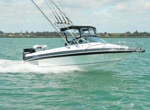 The sleek lines of the new Haines Signature 575RF belie the fact that this is an out-and-out fishing machine.