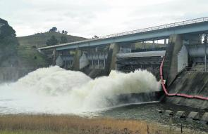 Massive amounts of water were released from Lake Burley Griffin after Canberra received a month's rain in just 48 hours.